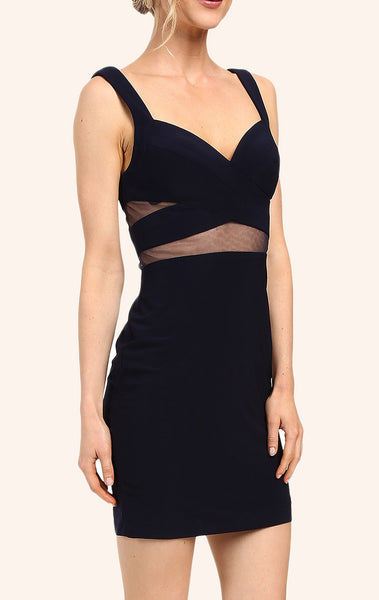 MACloth Two Piece Mini Jersey Prom Homecoming Dress Black Cocktail Dress