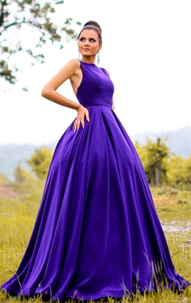 MACloth Halter O Neck Regency Ball Gown Prom Dress Elegant Formal Evening Gown