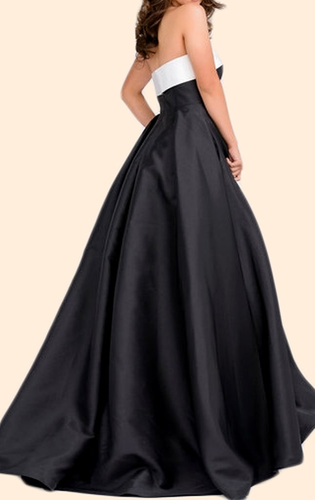 MACloth Women Two Piece High Neck Lace Chiffon Long Prom Dress Formal Party Gown (EU40, Negro)