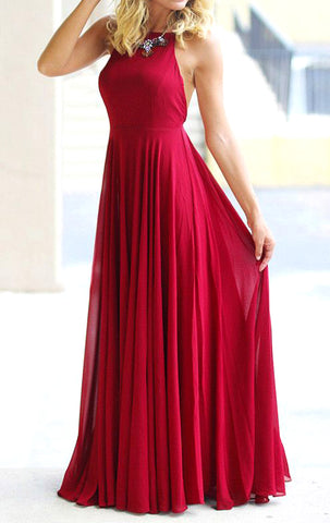 bf307dbcf55a MACloth Halter Chiffon Long Prom Dress with Open Back Red Formal Evening  Gown 10724 ...
