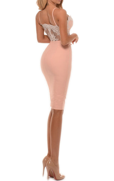MACloth Sheath Spaghetti Straps Sexy Jersey Cocktail Dress Wedding Party Dress 10784