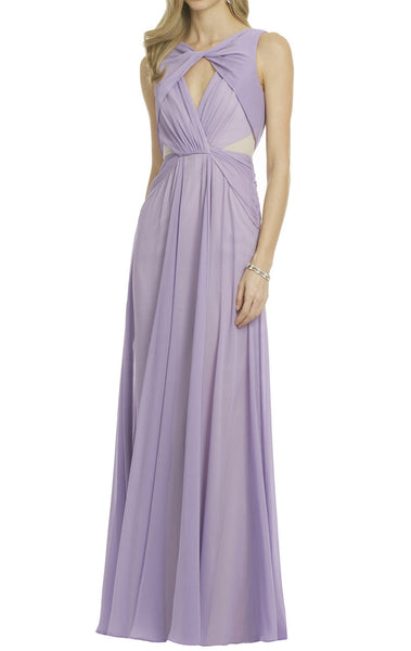 MACloth Straps Chiffon Long Lavender Formal Gown Prom Dress