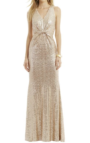 MACloth Mermaid Straps Sequin Long Formal Dress Blush Simple Prom Gown