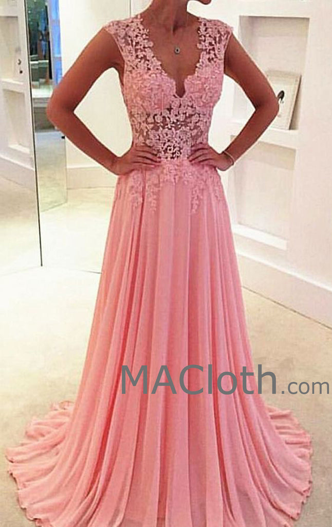 MACloth Women Mermaid Long Sleeve Lace Evening Formal Gown Wedding Party Dress (EU56, Fuchsia)