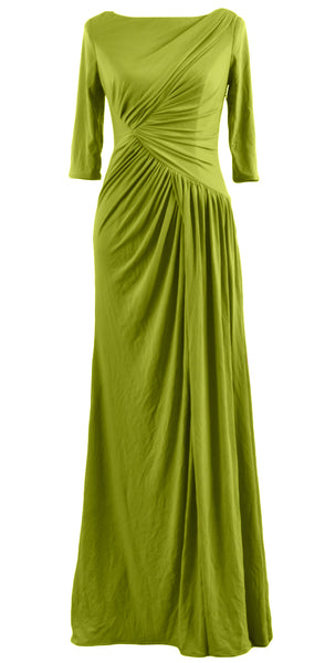 MACloth Women Mother Bride Dresses Half Sleeves Long Evening Party Formal Gown