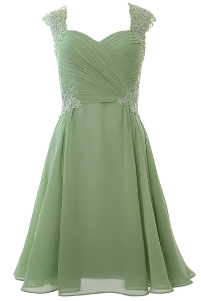 MACloth Women Cap Sleeve Cocktail Dress 2017 Short Wedding Party Formal Gown