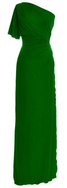 MACloth Elegant One Shoulder Simple Prom Gown Jersey Wedding Party Formal Dress