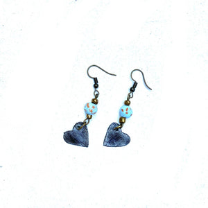 Steel Heart Earrings
