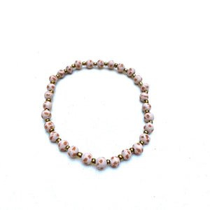 Mini Antiqued Ceramic Bracelet