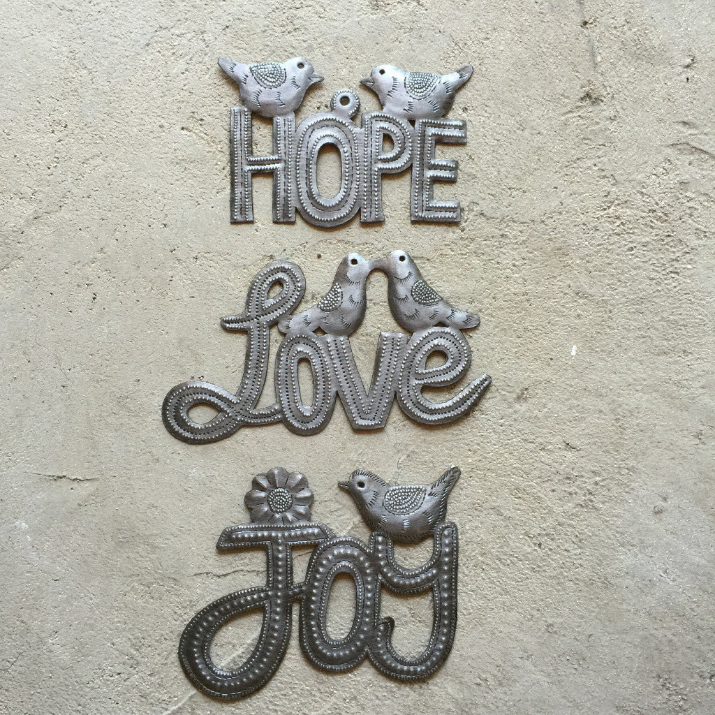 Set of Hope Love Joy