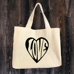"""Love"" Canvas Tote Bag"