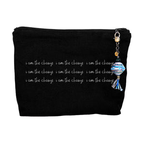 """I am the Change"" - Canvas Zipper Bag"