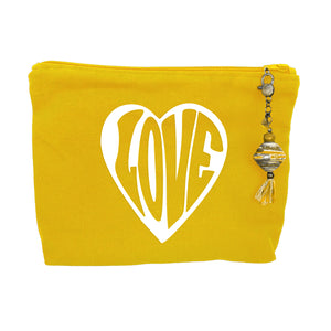 """Love"" - Canvas Zipper Bag"