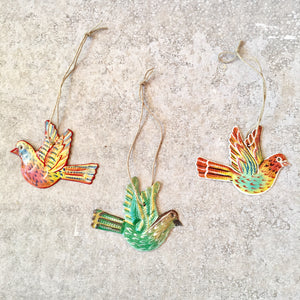 Set of 3 Bird Ornaments