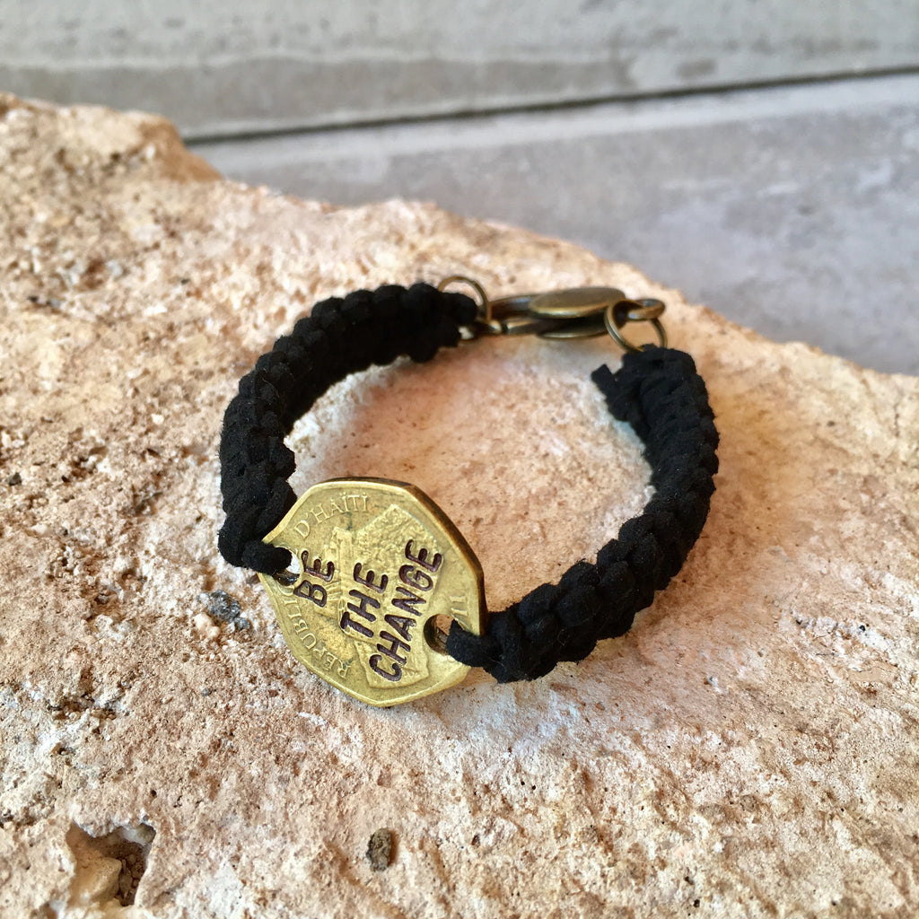 """Be the Change"" Unisex Clasp Bracelet"