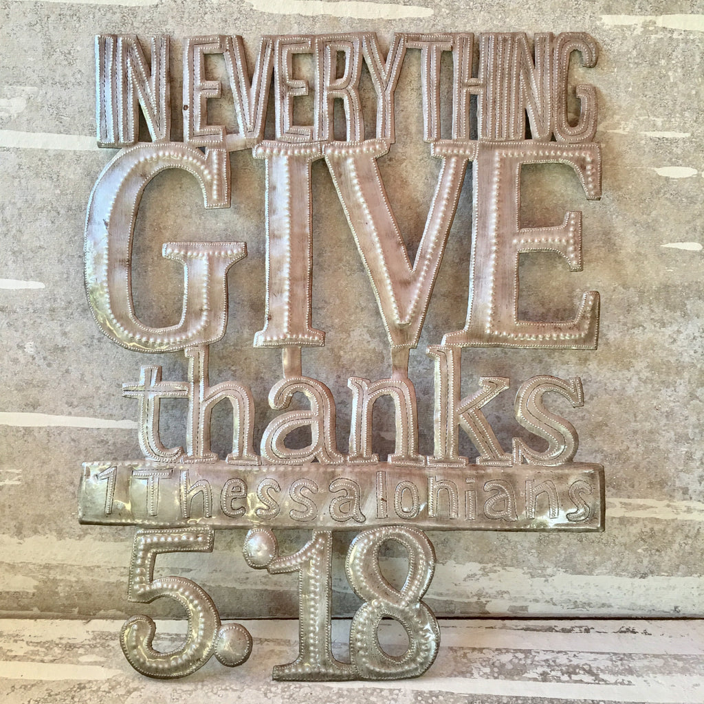 Give Thanks - Thessalonians 5:18