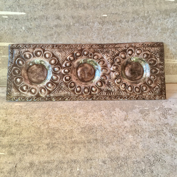 3 Candle Holder Tray