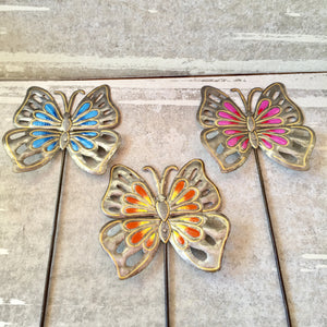 Set of 3 Butterfly Garden Stakes