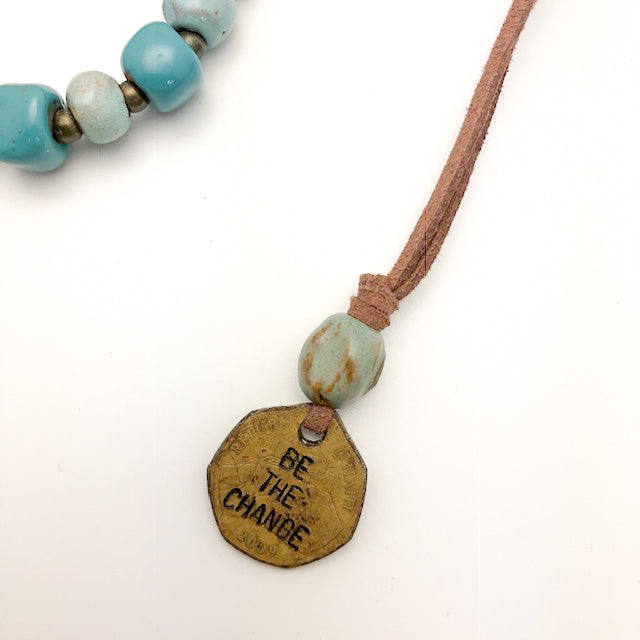 Be the Change Leather Necklace