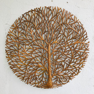 Large Gold Round Tree Statement Wall Hanging