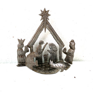 3-D Small Standing Nativity