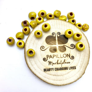 Yellow Speckled Beads