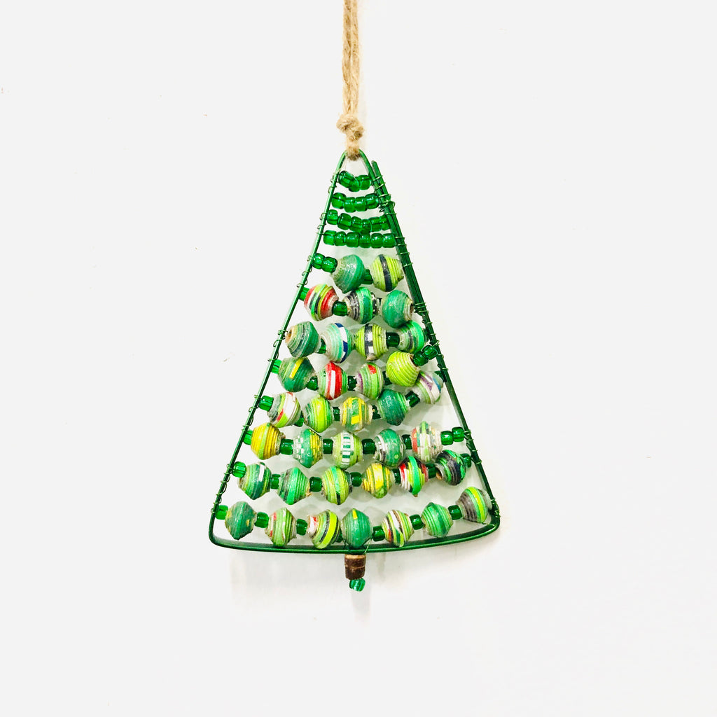 Paper Wire Christmas Tree Ornament