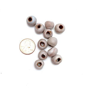 Matte Light Grey Beads