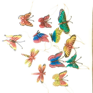 Set of 12 Butterfly Ornaments