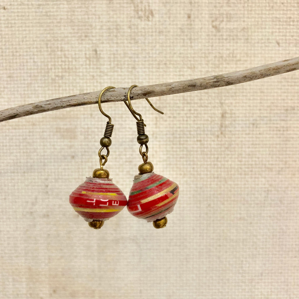Cereal Box Bead Earrings