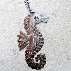 Steel Seahorse Ornament