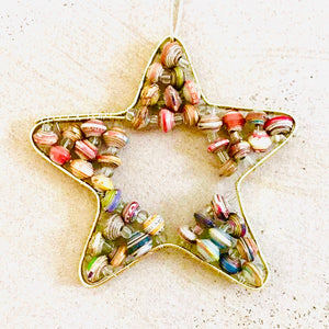 Paper Wire Star Ornament