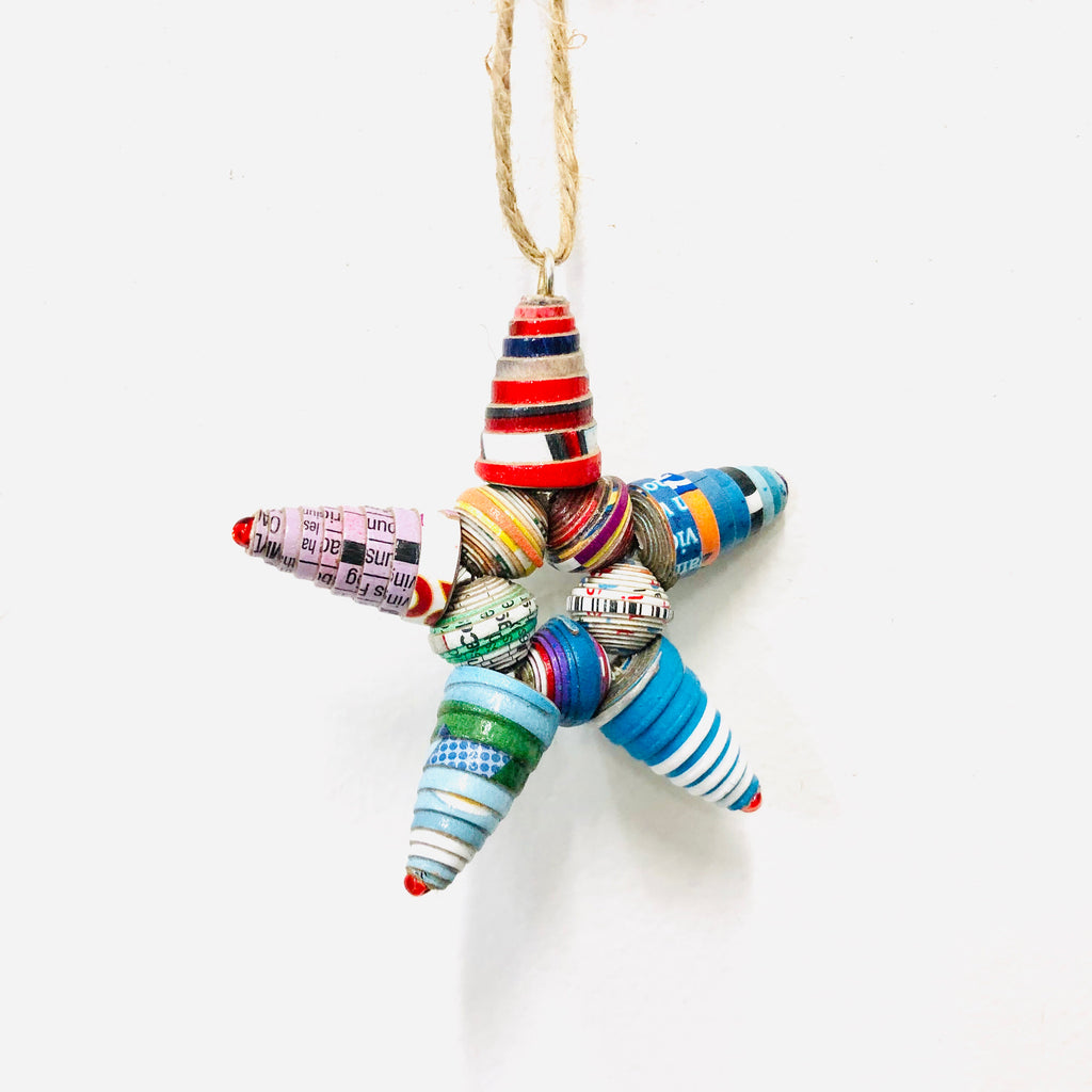 Cereal Box Star Ornament