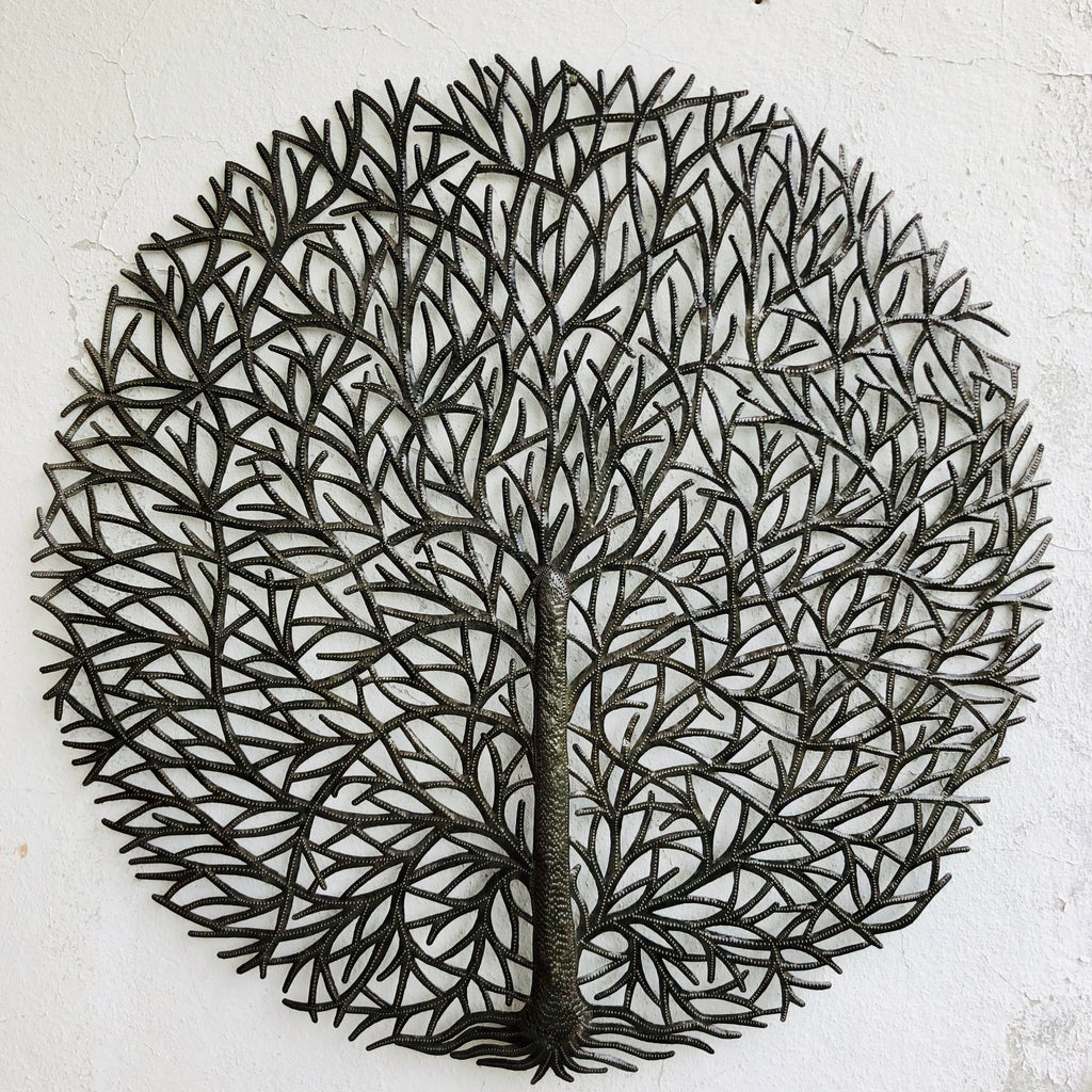 Large Round Tree Statement Wall Hanging