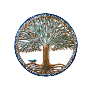 Blue and Green Tree of Life Round