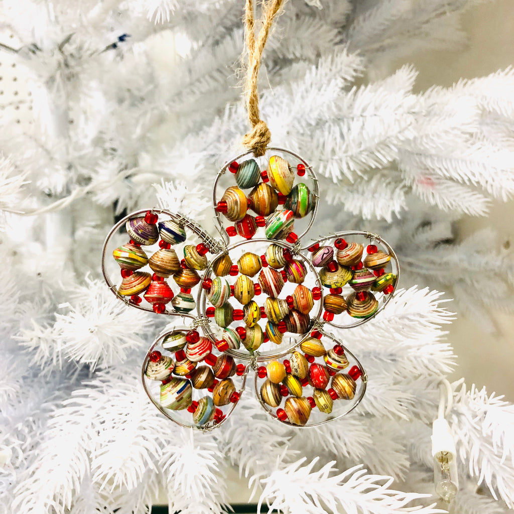 Paper Wire Flower Ornament