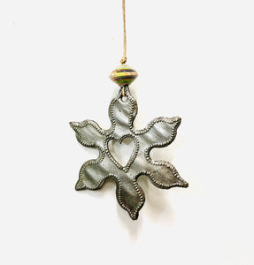 Small Steel Snowflake Ornament