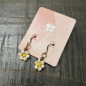 Ceramic Daisy Earrings