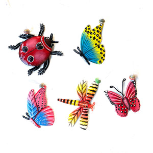 Insect Ornaments  (Set of 5 Assorted)