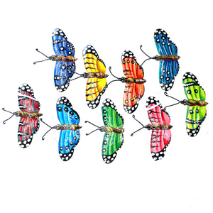 Wide Butterfly Ornaments (Set of 9)