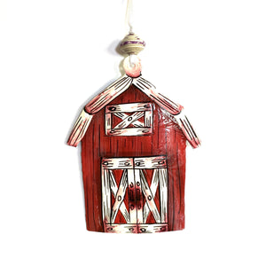 Classic Red Barn Ornament
