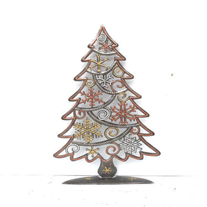 Snowflake Steel Drum Christmas Tree