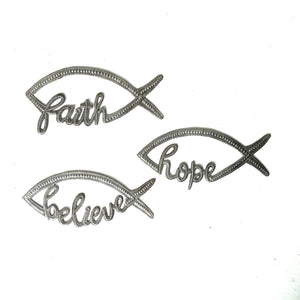 Hope Believe Faith Fish