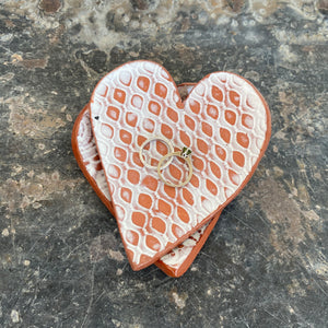 Lace Print Heart Catch All