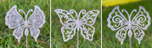 Steel Butterfly Garden Stakes- Set of Three