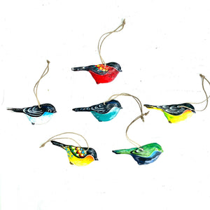 Little Bird Ornament (Set of 6)