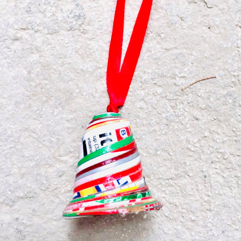 Cereal Box Paper Bell Ornament
