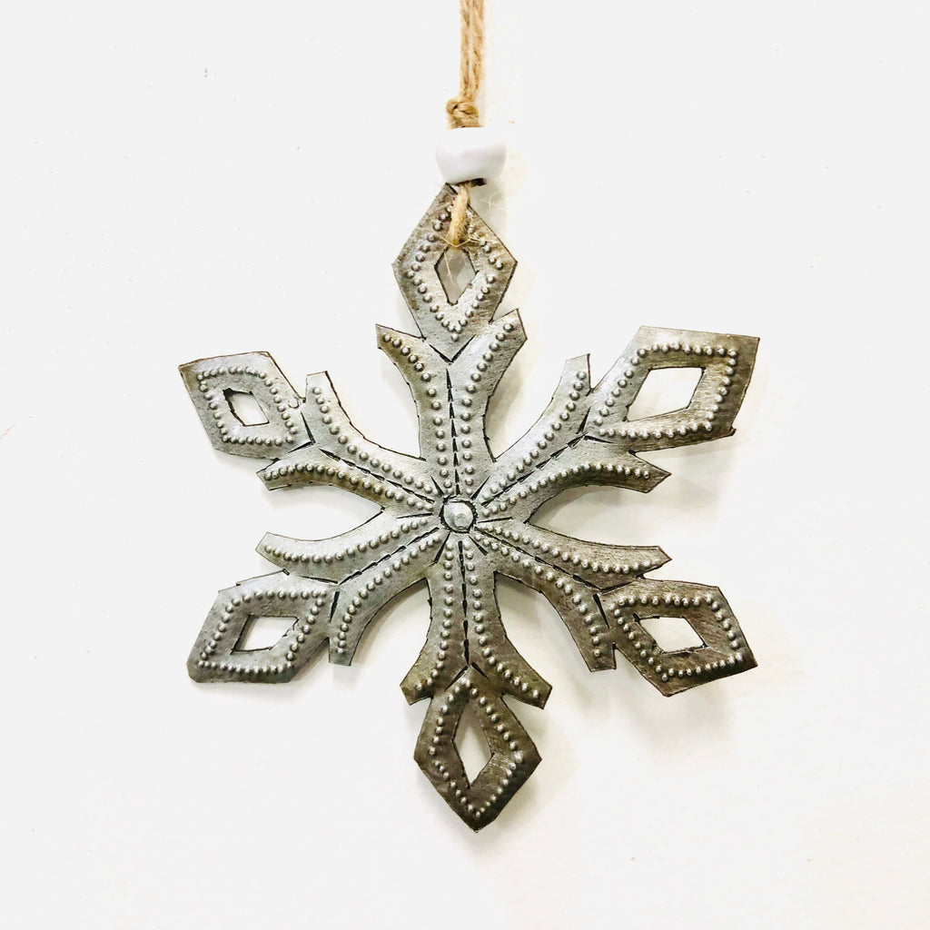 Steel Snowflake Ornament