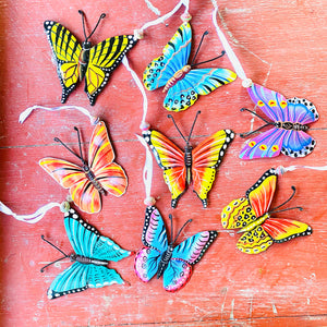 Painted Butterfly Ornament (Set of 8)
