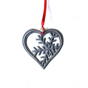 Heart Snowflake Ornament